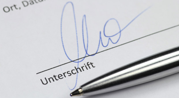 So erhalten Sie vom Kunden die Unterschrift